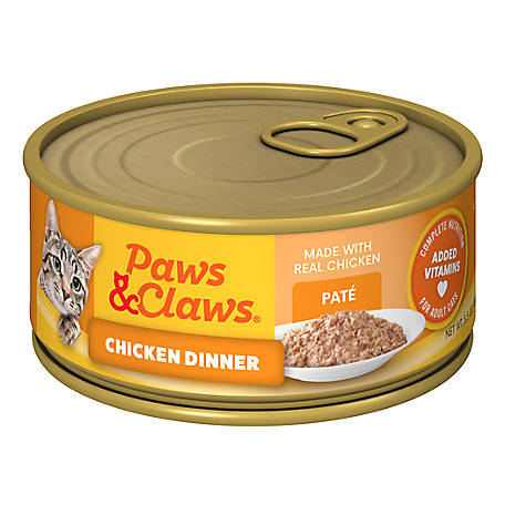 Paws & Claws Chicken Dinner Cat Food, 5.5 oz. Can