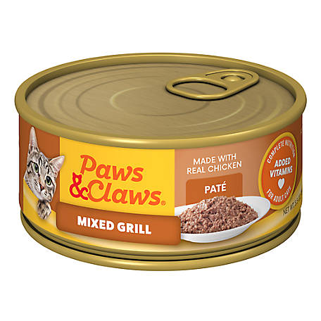 Paws & Claws Mixed Grill Cat Food, 5.5 oz. Can