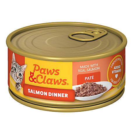 Paws & Claws Salmon Dinner Cat Food, 5.5 oz. Can