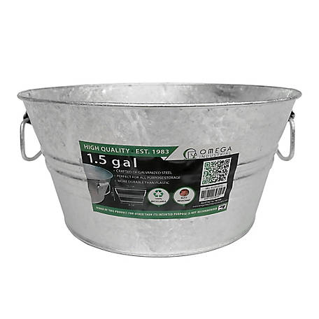 King Metalworks Galvanized 1-1/2 gal. Low Bucket