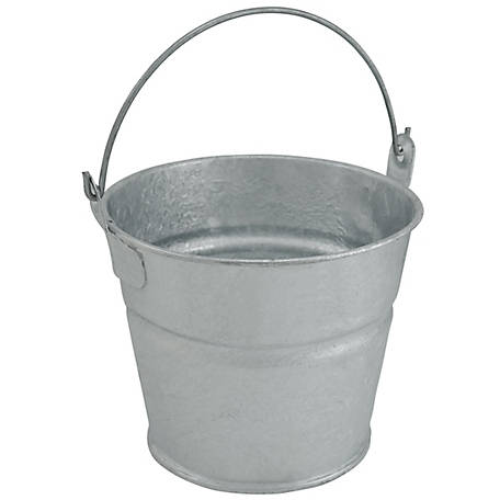 King Metalworks Galvanized Metal 1.5 qt. Pail