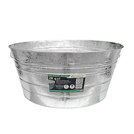 King Metalworks 28 gal. Galvanized Metal Tub