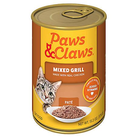 Paws & Claws Mixed Grill Cat Food, 13.2 oz. Can