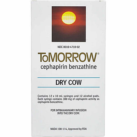 Bivi Tomorrow (Cephaperin Benzathine) Dry Cow Mastitis Treatment