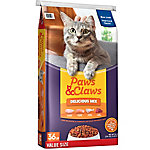Paws and Claws Delicious Mix Cat Food, 36 lb. Bag