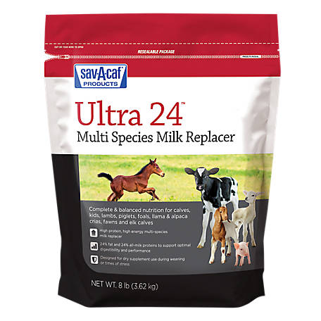 Sav-A-Caf Grade A Ultra 24 Multi-Species Milk Replacer, 8 lb.