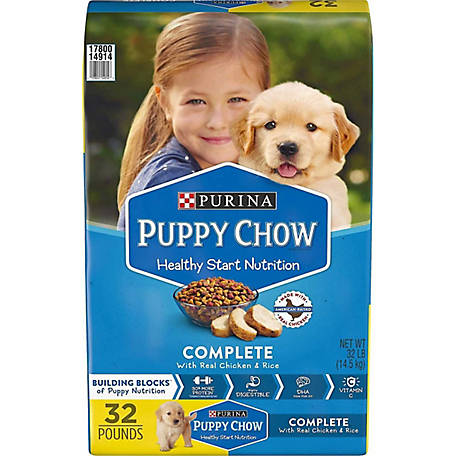 Purina Puppy Chow Dry Puppy Food, Complete with Real Chicken, 36 lb. Bag