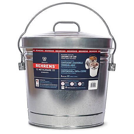 Behrens 6 gal. Galvanized Sheet Steel Garbage Pail