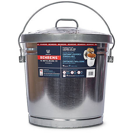 Behrens 10 gal. Galvanized Storage Can with Locking Lid