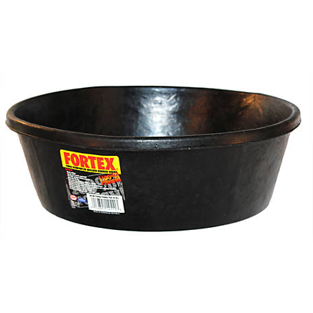 Fortex Rubber Pan, 2 gal. Capacity, Black