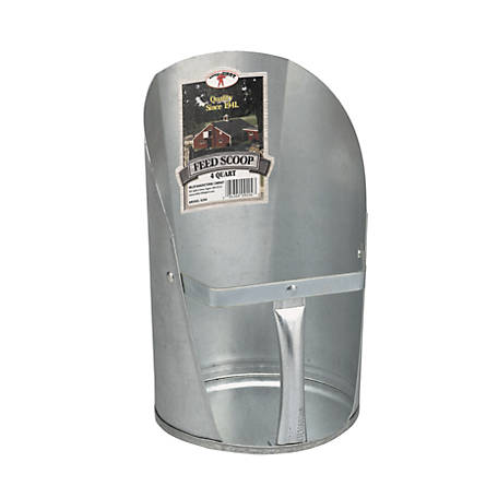 Little Giant 4 Quart Galvanized Feed Scoop