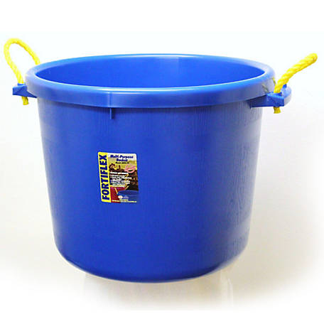 Fortiflex Large Capacity Plastic Bucket, 17 5 gal  at Tractor Supply Co