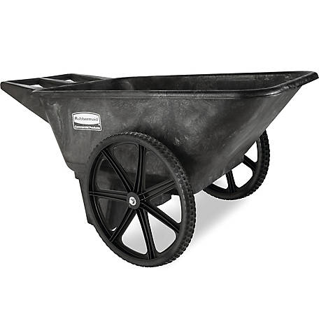 Rubbermaid 5642 Big Wheel Farm Cart, 7-1/2 cu. ft.
