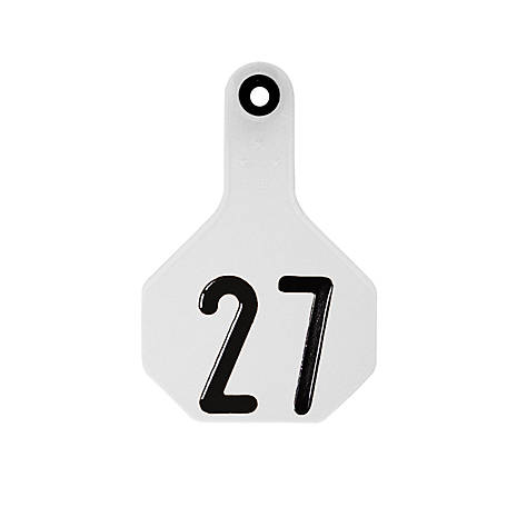 Y-Tex All-American 3 Star Tags, Medium, White, Numbered 026-050, Pack of 25