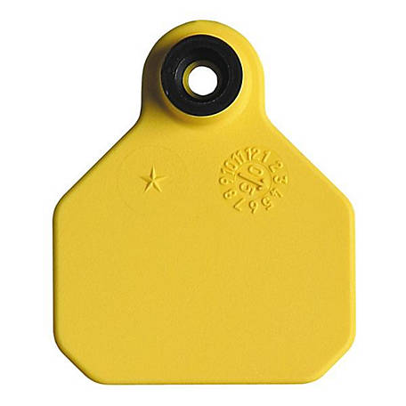 Y-Tex All American 1-Star Tags, Yellow, Pack of 25