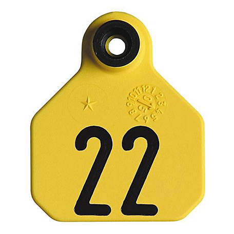 Y-Tex All American 1-Star Tags, Yellow, Numbered 1-25, Pack of 25