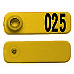 Y-Tex All American SheepStar Tags, Yellow, Numbered 1-25, Pack of 25