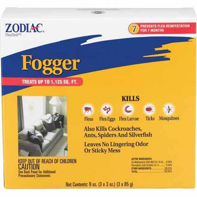 Zodiac Flea & Insect Fogger; Pack of 3