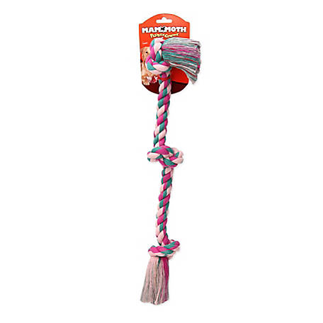 Mammoth Pet Flossy Chews Medium 20 in. 3-Knot Rope Tug