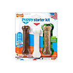 Nylabone Puppy Starter Kit, Puppy Chew Bone/Edible Bacon/Power Chew Chicken