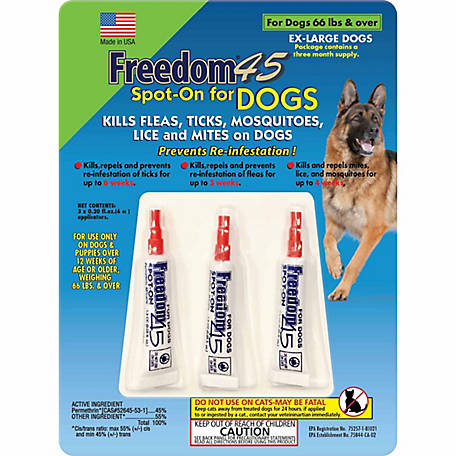 Freedom 45 Flea Tick Spot On For Dogs X Large 3 Pack At Tractor