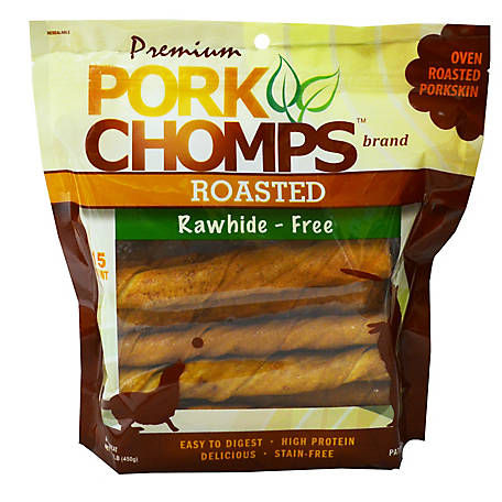 Pork Chomps Pork Twist, Roasted 15 Count, 15 Count