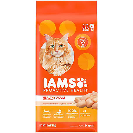 Iams Proactive Health Healthy Adult Original with Chicken Dry Cat Food, 7 lb.