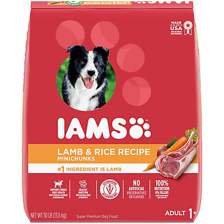 Iams Proactive Health Adult with Grass-Fed Lamb Dry Dog Food, 30 lb.