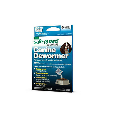 Safe-Guard Animal Health Canine Dewormer, 2 gm, 40553