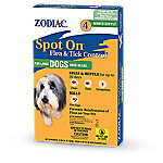 Zodiac Spot On Flea & Tick Control for Large Dogs Over 60 lb., Pack of 4