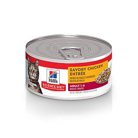 Hill's Science Diet Adult Savory Chicken Entree Canned Cat Food, 5.5 oz.