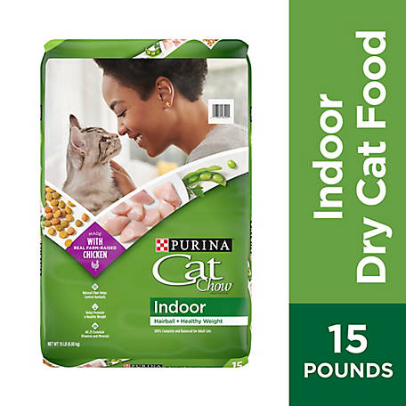 Purina Cat Chow Hairball, Healthy Weight, Indoor Dry Cat Food, Indoor, 15 lb. Bag