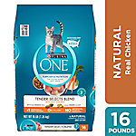 Purina One Tender Selects Blend Real Chicken Dry Cat Food, 16 lb. Bag