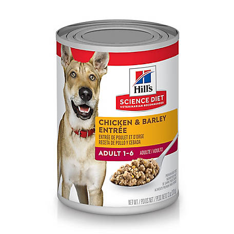 Hill's Science Diet Adult Chicken & Barley Entree Canned Dog Food, 13 oz.