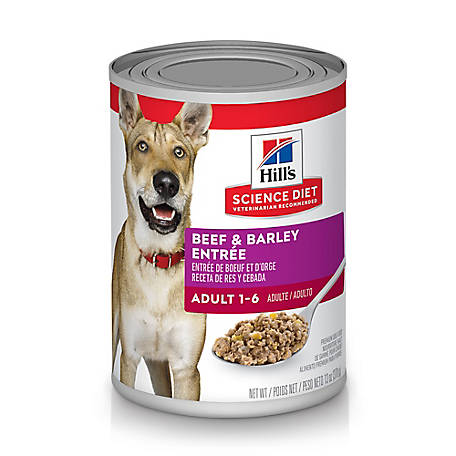 Hill's Science Diet Adult Beef & Barley Entree Canned Dog Food, 13 oz.