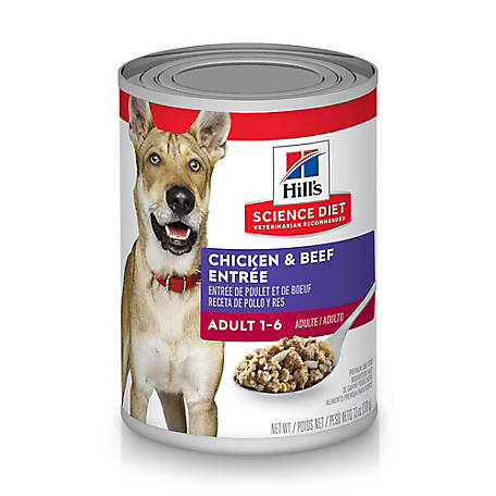 Hill's Science Diet Adult Chicken & Beef Entree Canned Dog Food, 13 oz.