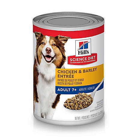 Hill's Science Diet Adult 7+ Chicken & Barley Entree Canned Dog Food, 13 oz.
