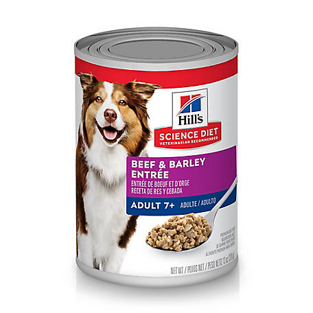 Hill's Science Diet Adult 7+ Beef & Barley Entree Canned Dog Food, 13 oz.