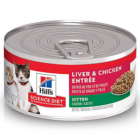 Hill's Science Diet Kitten Liver & Chicken Entree Canned Cat Food, 5.5 oz.