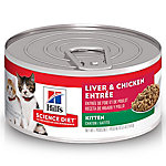 Hill's Science Diet Kitten Liver & Chicken Entree Cat Food, 5.5 oz.