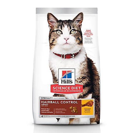 Hill's Science Diet Adult Hairball Control Chicken Recipe Dry Cat Food, 7 lb. Bag
