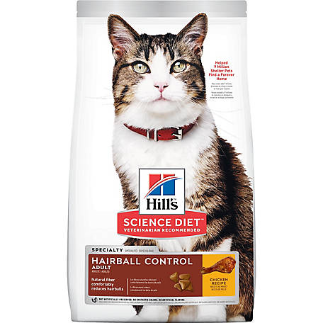 Hill's Science Diet Adult Hairball Control Chicken Recipe Dry Cat Food, 15.5 lb. Bag