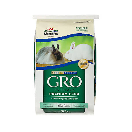 Manna Pro Select Series GRO Formula Rabbit Feed, 50 lb.