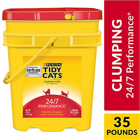 Purina Tidy Cats 24/7 Performance Cat Litter, 35 lb. Pail