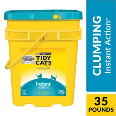 Buy Tidy Cats Instant Action Clumping Litter; 35 lb. Pail Online