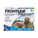 Frontline Plus for Medium Dogs, 23 lb. to 44 lb., Three .045 oz. Doses, 710035020003