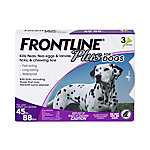 Frontline Plus for Large Dogs, 45 lb. to 88 lb., Three .091 oz. Doses, 710035030003