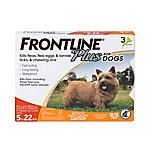Frontline Plus for Small Dogs, Up To 22 lb., Three .023 oz. Doses, 710035010003
