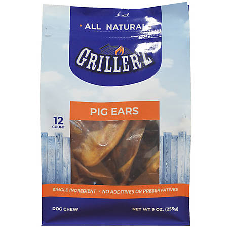 Grillerz Pig Ears, Pack of 12