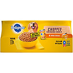 Pedigree Wet Dog Food Chopped Ground Dinner with Chicken, Pack of 6